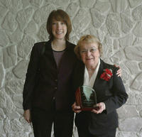 Joan Conboy (right) with Jennifer Carter, HANYS' Director, Trustee and Auxiliary Services, at the Regional Healthcare Recognition luncheon.