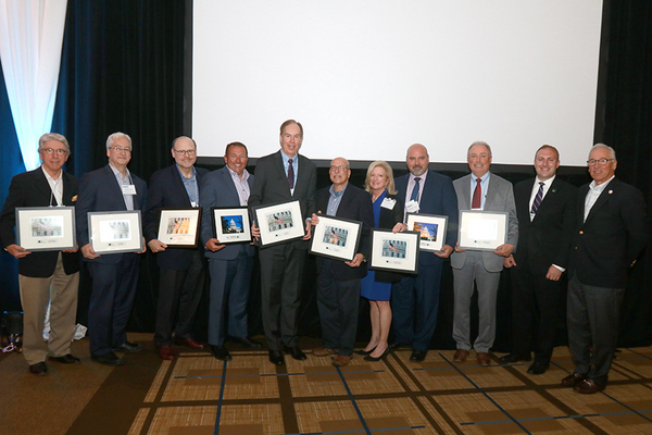 2018 HANYS PAC MVP Award winners, AHA PAC MVP Award winners and Outstanding PAC Performance honorees are pictured here with Nick Henley, vice president of external affairs, HANYS, and Mike Spicer, president and CEO of Saint Joseph's Medical Center in Yonkers and chair of the HANYS PAC Steering Committee.