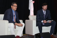 From left to right: Ed Rafalski, chief strategy and marketing officer with BayCare Health, and Ryan Donohue, corporate director of program development with National Research Corporation, during the Q&A portion of their session.