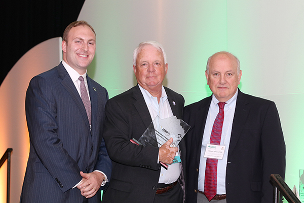 Thomas Ockers, Executive Vice President and Chief Administrative Officer, accepted the Pinnacle Award on behalf of Good Samaritan Hospital Medical Center; pictured here with Nick Henley, HANYS' Vice President of External Affairs (left); and Dr. Robert Panzer, HANYS' Quality Steering Committee Chairman and Associate Vice President for Patient Care Quality and Safety and Chief Quality Officer, Strong Memorial Hospital.